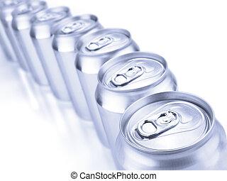 σόδα , cans , ασημένια
