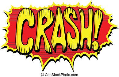 σύγκρουση αυτοκινήτου , κόμικς , - , έκφραση , εδάφιο