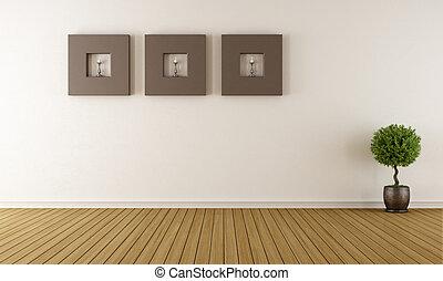 σύγχρονος , άδειο δωμάτιο