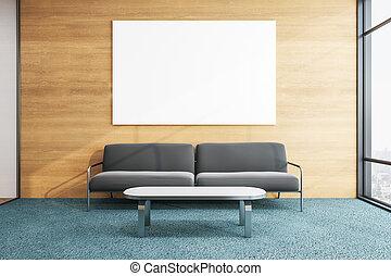 σύγχρονος , καναπέs , δωμάτιο , αναμονή