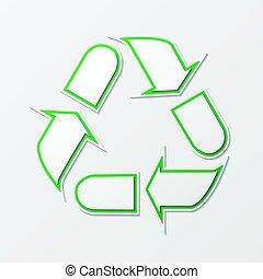 σύμβολο , ανακύκλωση , βέλος