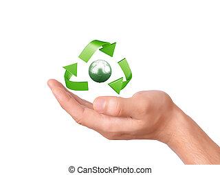 σύμβολο , ανακύκλωση , πράσινο , αμπάρι ανάμιξη