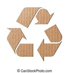 σύμβολο , ανακύκλωση , χαρτόνι