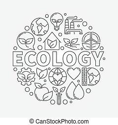 σύμβολο , οικολογία , στρογγυλός