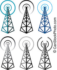 σύμβολο , πύργος , θέτω , ραδιόφωνο , μικροβιοφορέας