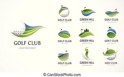 σύμβολο , στοιχεία , γκολφ κλαμπ , απεικόνιση , συλλογή , ο ενσαρκώμενος λόγος του θεού
