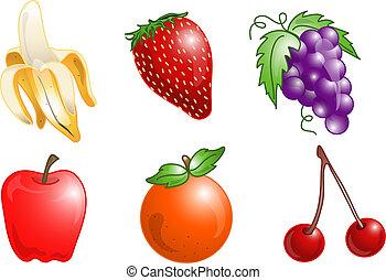 σύμβολο , φρούτο , ή , απεικόνιση