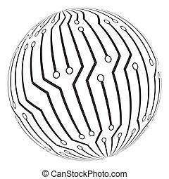 σύμβολο , circut, μικροβιοφορέας , πίνακας , ο ενσαρκώμενος...