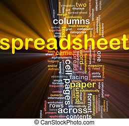 σύνεφο , λαμπερός , spreadsheet , λέξη