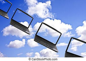 σύνεφο , χρήση υπολογιστή , τεχνολογία