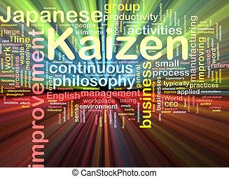σύνεφο , kaizen, λαμπερός , λέξη