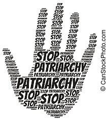 σύνεφο , patriarchy, φεμινιστής , σταματώ , γενική ιδέα , λέξη