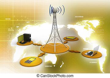 σύνθημα , networking , πύργος