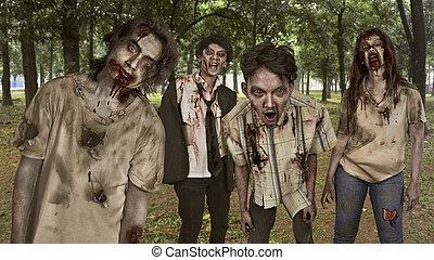 σύνολο , αιματώδης , ασιάτης , zombies, τραυματίας , πορτραίτο , ζεσεεδ