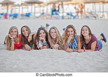 σύνολο , αναμμένος άδεια , επάνω , calvia, παραλία , majorca , ισπανία