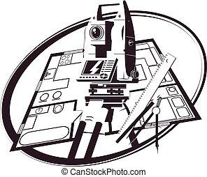 σύνολο , σπίτι , θέση , εργαλεία , σχέδιο