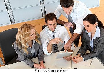 σύνολο , τριγύρω , αρμοδιότητα ακόλουθοι , τραπέζι , συνάντηση
