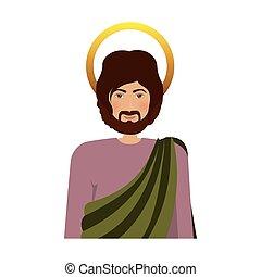 σώμα , άγιος , νούμερο , ιωσήφ , ανθρώπινος , μισό , γραφικός