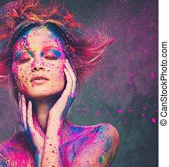 σώμα , κτένισμα , γυναίκα , τέχνη , νέος , μούσα , δημιουργικός