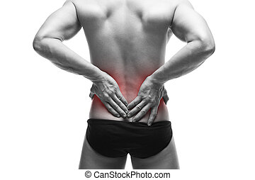 σώμα , μυώδης , άντραs , backache., αρσενικό