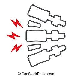 σώμα , πονώ , γραμμικός , φόντο. , σπονδυλική στήλη , πρότυπο , πίσω , επώδυνος , σήμα , μικροβιοφορέας , πόνος , graphics , εικόνα , γραμμή , άσπρο