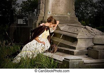 τάφος , πένθος