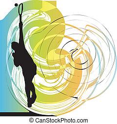 τένιs , μικροβιοφορέας , player., εικόνα