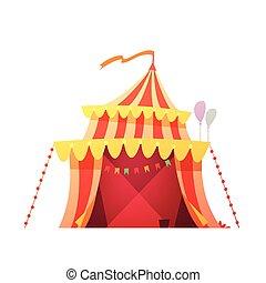 τέντα τσίρκου , οδοιπορικός , εικόνα , γελοιογραφία , retro