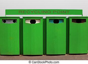 τέσσερα , ανακύκλωση , δοχείο , για , γυαλί , και , cans