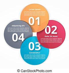τέσσερα , βήματα , infographics