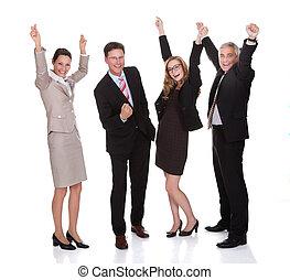τέσσερα , γιορτάζω , businesspeople