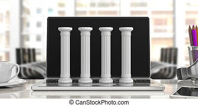 τέσσερα , γραφείο , κλασικός , εικόνα , διακοσμώ με κολώνες...