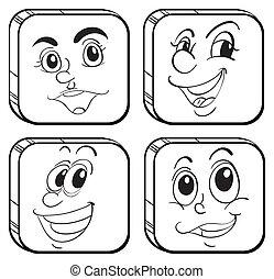 τέσσερα , διαφορετικός , τετράγωνο , αγαθός , αντικρύζω