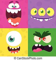 τέσσερα , θέτω , διαφορετικός , set., τέρας , μικροβιοφορέας , εκφράσεις , παραμονή αγίων πάντων , γελοιογραφία , αντικρύζω