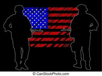 τέσσερα , στρατιώτης , αμερικανός