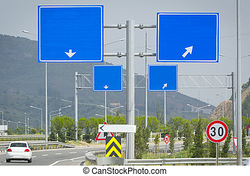 τέσσερα , roadsign , εθνική οδόs