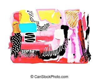 τέχνη , αφαιρώ , σύγχρονος , watercolor βαφή , έκθεση