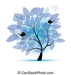 τέχνη , δέντρο , όμορφος , για , δικό σου , σχεδιάζω