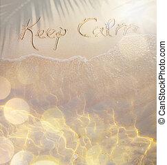 τέχνη , κύμα , από , ο , θάλασσα , αναμμένος άρθρο άμμος , παραλία