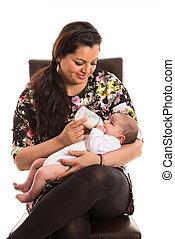 ταΐζω , νεογέννητος , γάλα , μαμά , μωρό