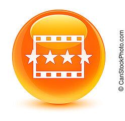 ταινία , αναθεώρηση , εικόνα , γιαλινός , πορτοκάλι , στρογγυλός , κουμπί