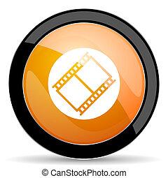 ταινία , πορτοκάλι , εικόνα , ταινία , σήμα , κινηματογράφοs , σύμβολο