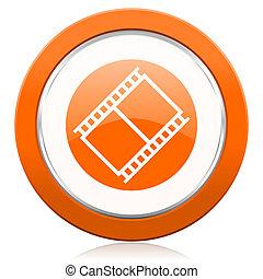 ταινία , πορτοκάλι , εικόνα , ταινία , σήμα , κινηματογράφοs...