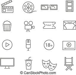 ταινίες , γραμμή , θέτω , διαμέρισμα , απεικόνιση