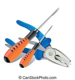 τανάλια , εργαλεία , κατσαβίδι , απεικόνιση