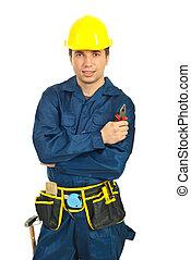 τανάλια , κρατάω , εργάτης , άντραs , πορτραίτο