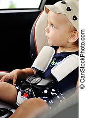 ταξίδι , αναμμένος άμαξα αυτοκίνητο , για , μωρό