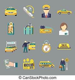 ταξί , διαμέρισμα , θέτω , απεικόνιση