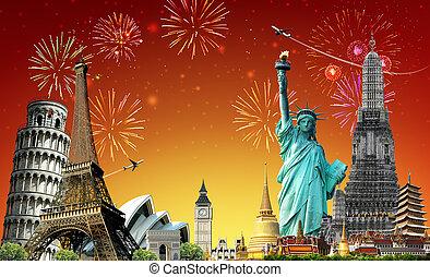 ταξιδεύω , γενική ιδέα , γιορτή , κόσμοs