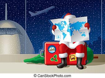 ταξιδεύω , xριστούγεννα , santa's